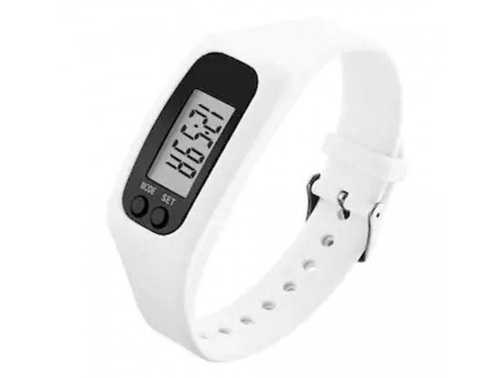 Dámské silikonové hodinky s krokoměrem skmei 1207 bílé