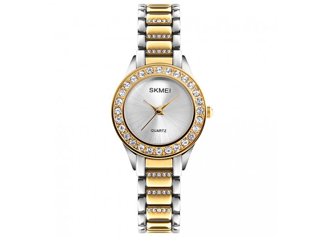 damske luxusni hodinky skmei 1262 zlate