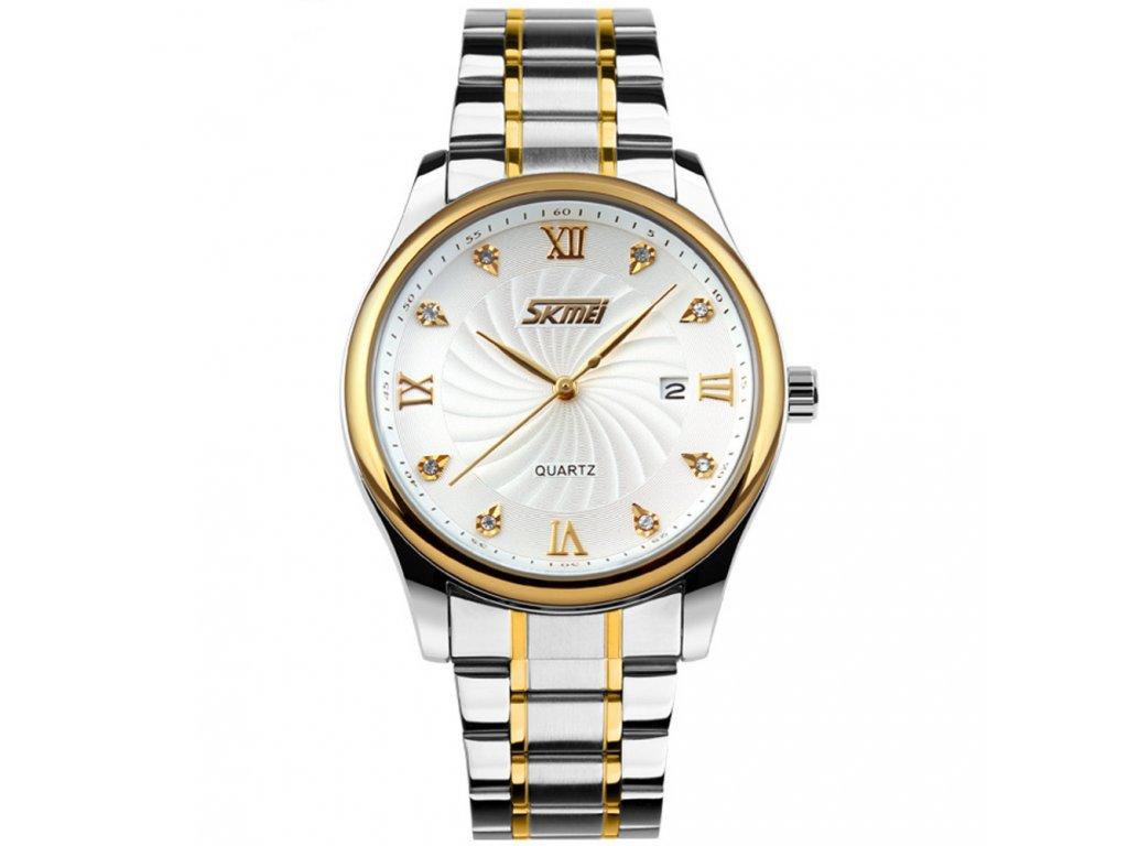 panske elegantni hodinky skmei 9101 bile