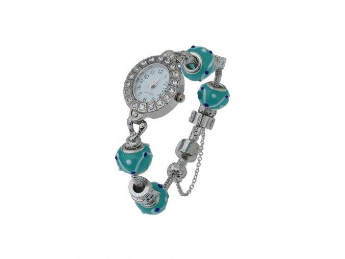 Dámské hodinky s krystaly a korálky  + 100% skladem