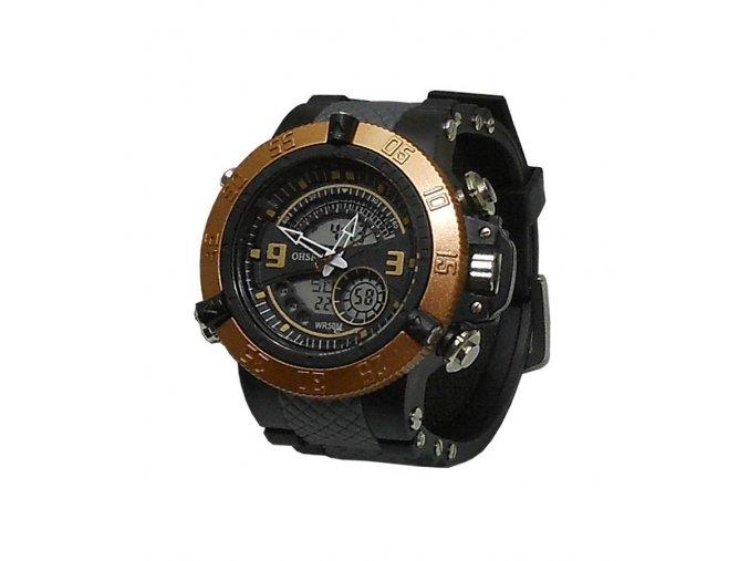 Pánské hodinky Ohsen černo zlaté  + 100% skladem + doprava zdarma