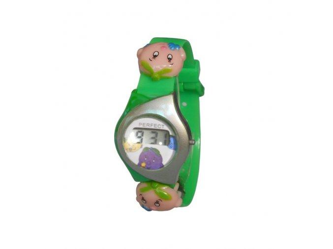 Dětské hodinky zelené s obrázky