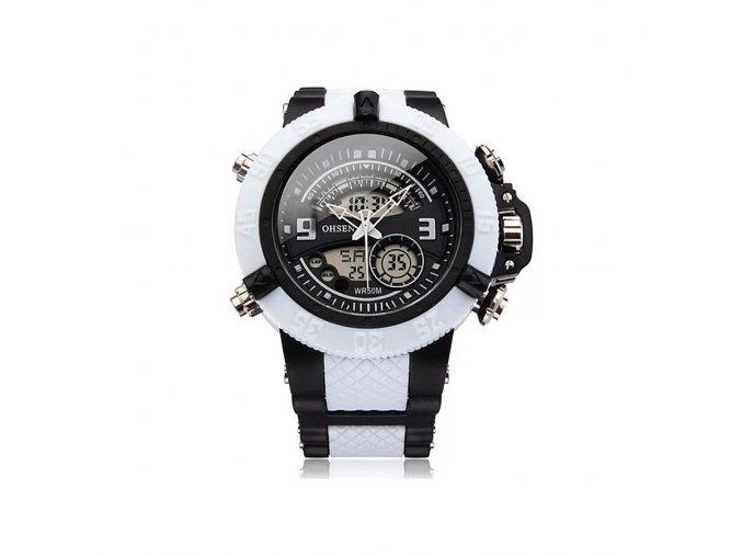 Pánské hodinky Ohsen bílo černé  + 100% skladem + doprava zdarma