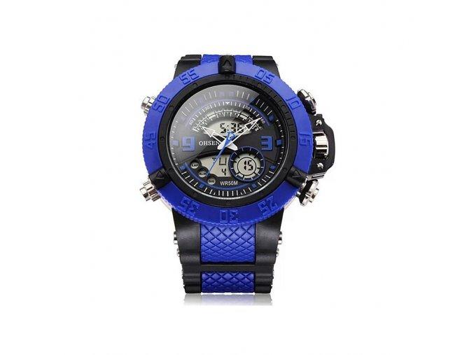 Pánské hodinky Ohsen modro černé  + 100% skladem + náramek zdarma