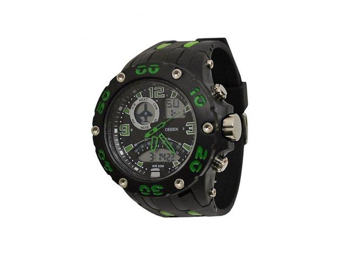 Sportovní hodinky Ohsen 2801 zelené  + 100% skladem + doprava zdarma