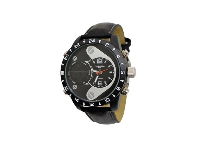 Pánské hodinky Charles Delon 576 Stříbrné