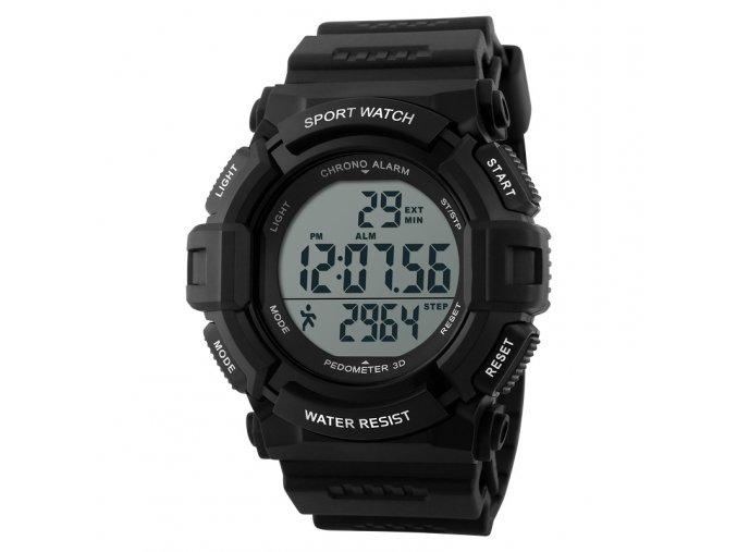 Sportovní hodinky s krokoměrem GTUP 1001 černé