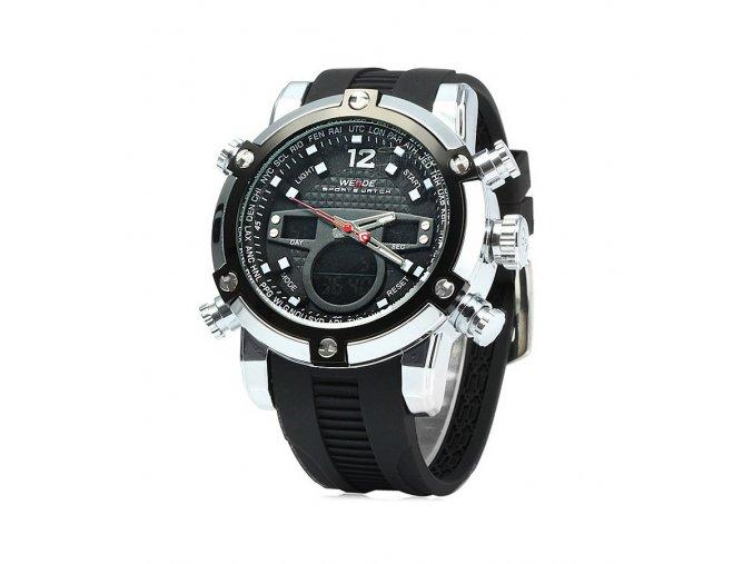 Pánské hodinky WEIDE 5205-7C černé  + 100% skladem + doprava zdarma po ČR