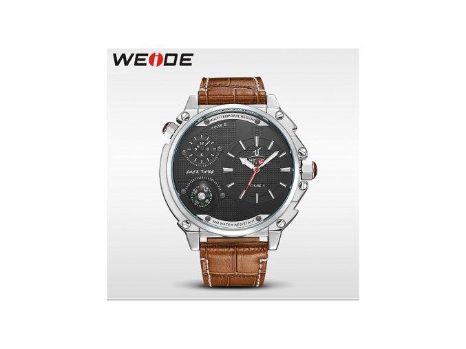 Pánské hodinky WEIDE 1507 stříbrné hodinky - černé  + doprava zdarma po ČR