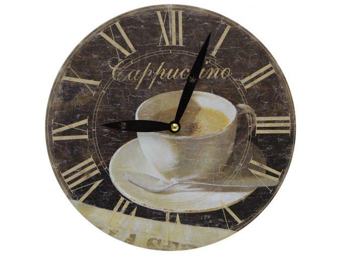 nástěnné hodiny cappuccino hrnek se lžičkou wery old