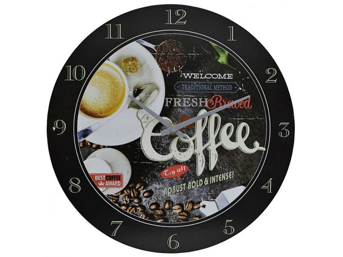 nástěnné hodiny welcome traditional method fresh brawed