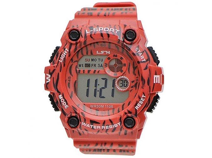 sportovní hodinky lsh červené