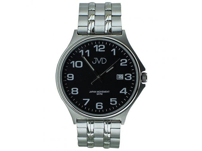 panske damske hodinky s cernym cifernikem a kovovym reminkem (2)