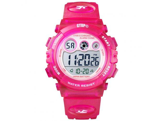 detske hodinky vodotesne 5 atm bar 1110 tmave ruzove