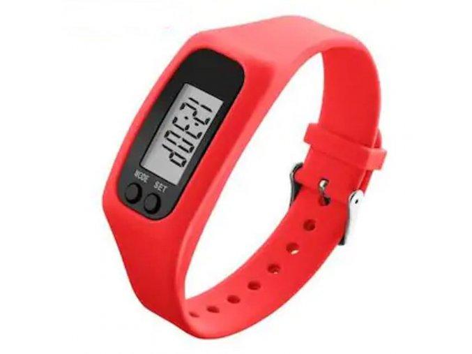 Dámské silikonové hodinky s krokoměrem skmei 1207 červené