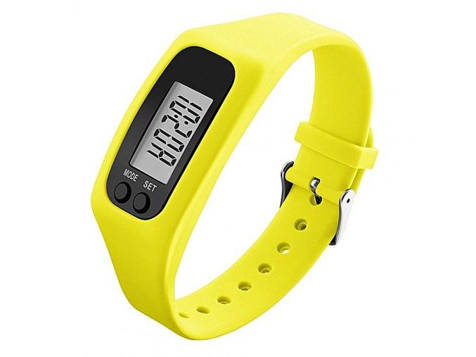 Dámské silikonové hodinky s krokoměrem skmei 1207 žluté
