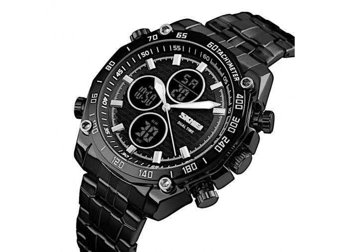 panske hodinky skmei 1302 cerne sportovni