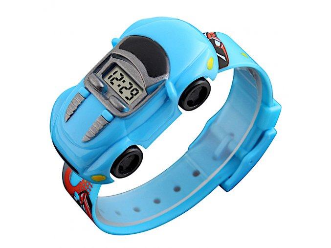 detske hodinky pro deti modre auticko jako hodiny