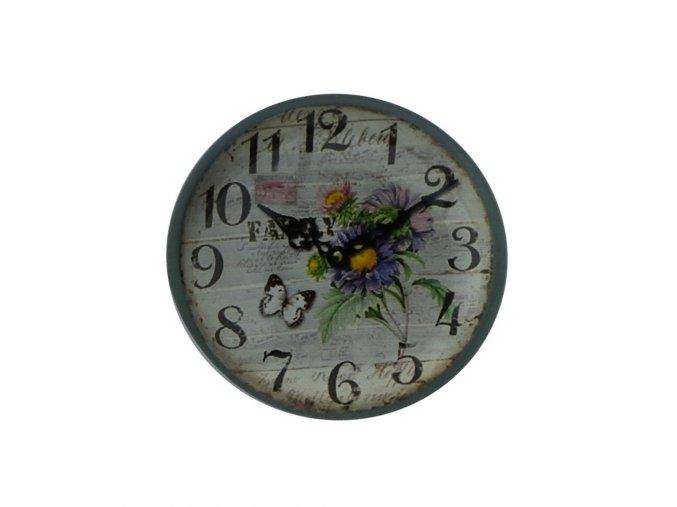 hodinky hodiny nastenne magneticke magnet na lednicku motýl