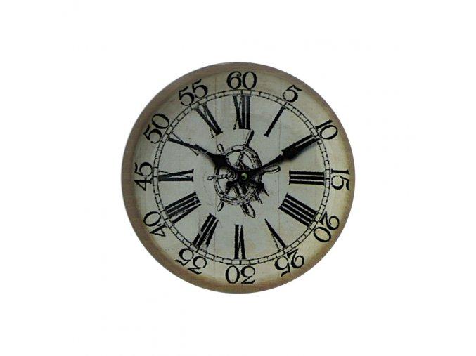 hodinky hodiny nastenne magneticke magnet na lednicku namornicke kormidlo