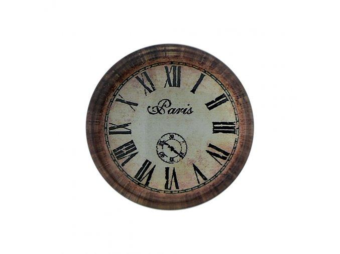 hodinky hodiny nastenne magneticke magnet na lednicku paris napis