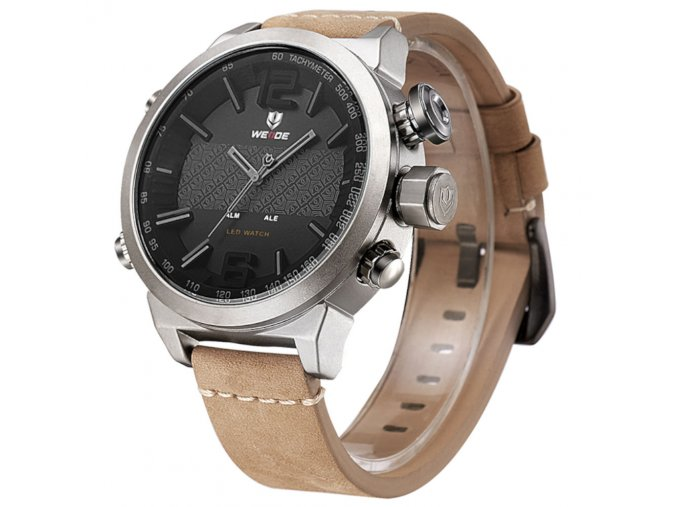 panske hodinky weide wh 6401 4 c s dualnim casem