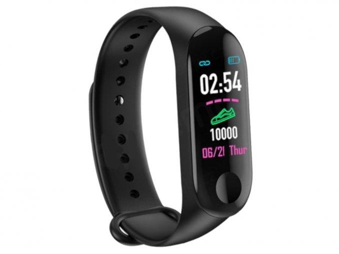 chytry fitness naramek smart hodinky na ruku m 3 komfort