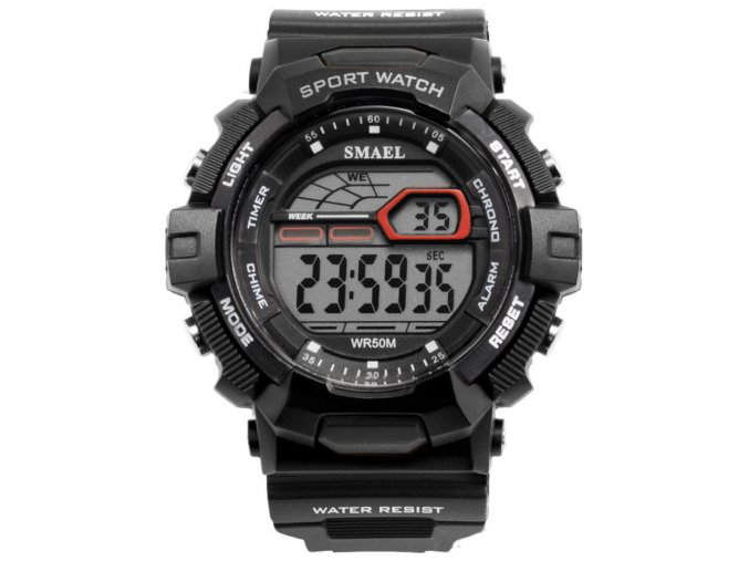panske sportovni digitalni hodinky smael 1527 cerne