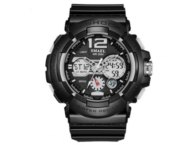 panske sportovni digitalni hodinky s dualnim casem smael 1415 černé