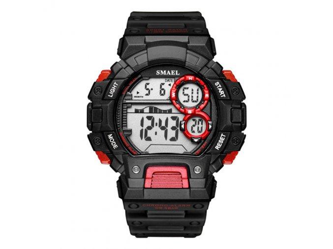 panske sportovni digitalni hodinky smael 1443 cervene