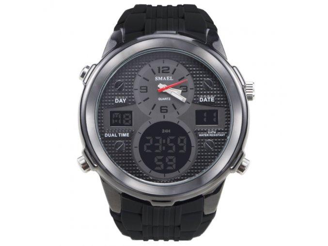panske sportovni digitalni hodinky smael 1273 cerne