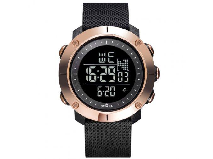 panske damske digitalni hodinky smael 1711 cerne zlate