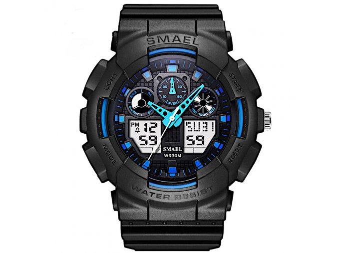 panske sportovni digitalni hodinky smael 1027 modre