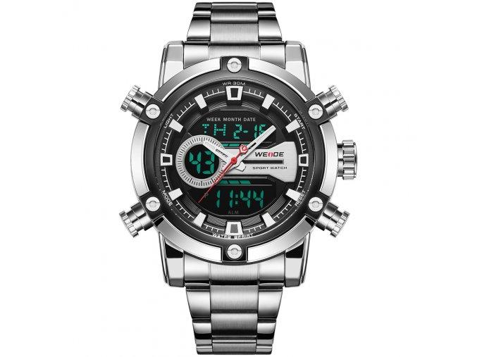 hodinky weide panske s dualnim casem kovovym reminkem wh 9603 1c