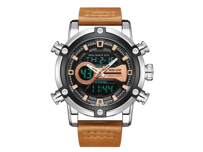 hodinky weide panske elegantni s reminkem z prave kuze wh 9603 12c