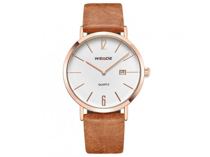 elegantni panske hodinky s kozenym reminkem wd 007g 1c