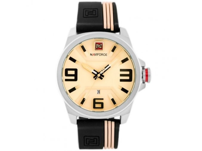 panske hodinky rucickove naviforce 9098 beige