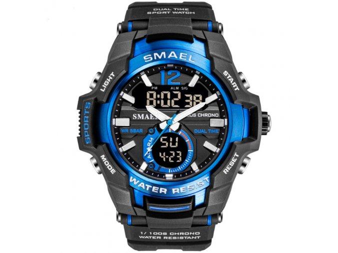 panske hodinky s dualnim casem smael 1805 modre