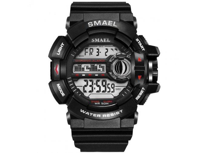 panske sportovni hodinky 1385 smael army black white
