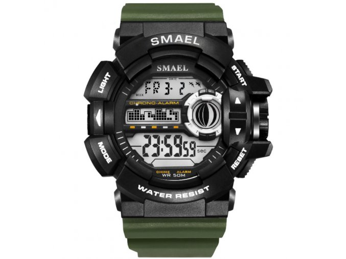 panske sportovni hodinky 1385 smael army zelene