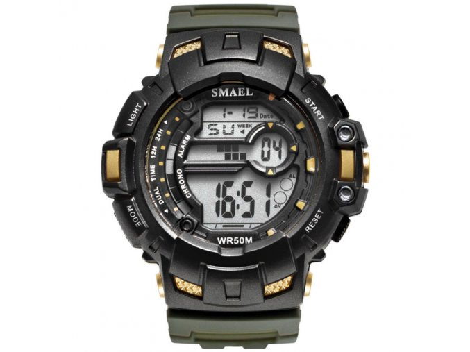 Sportovní digitální hodinky Smael 1532A zlaté