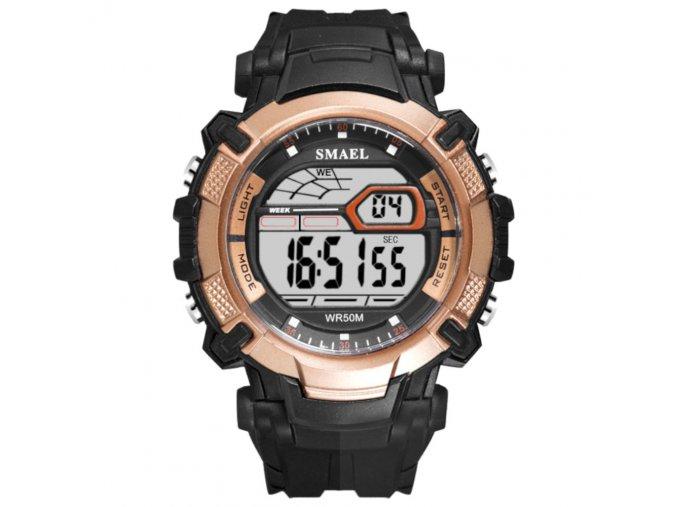 digitalni hodinky smael 1620 zlate