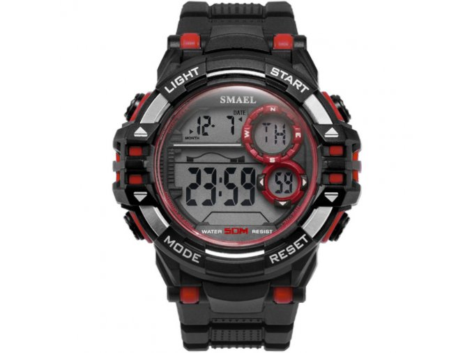 digitalni hodinky smael 1515 cervene