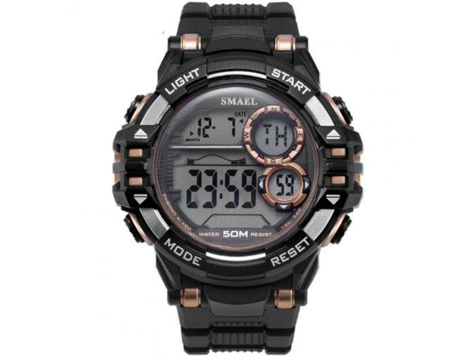 digitalni hodinky smael 1515 zlate