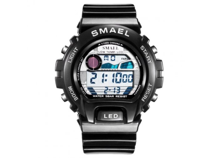 digitalni hodinky smael 0931 stribrne