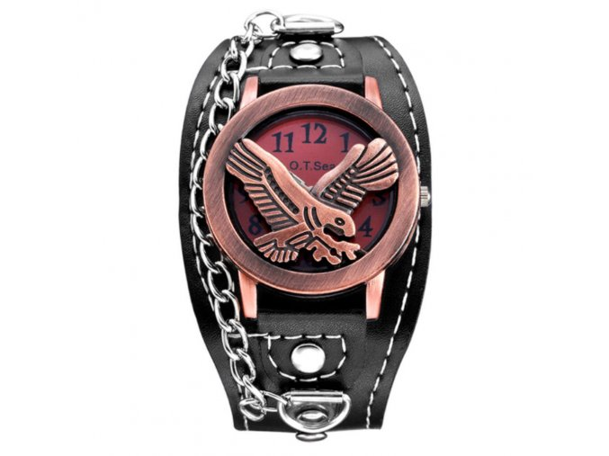 motorkarske hodinky punk orel ruzovy 2