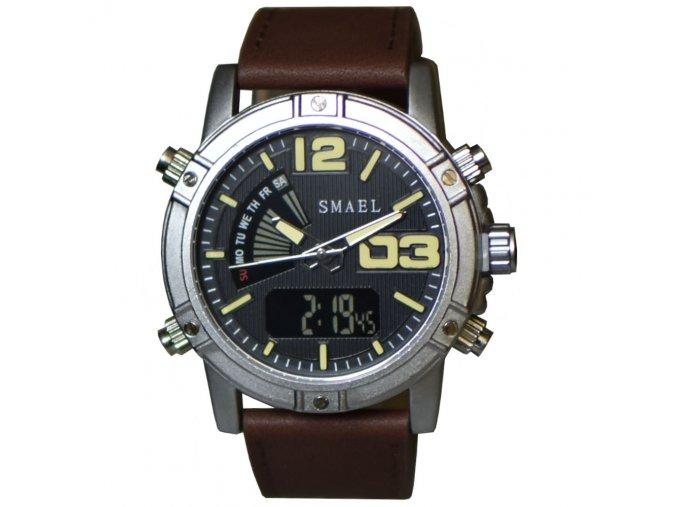 panske hodinky smael stribrno zlute