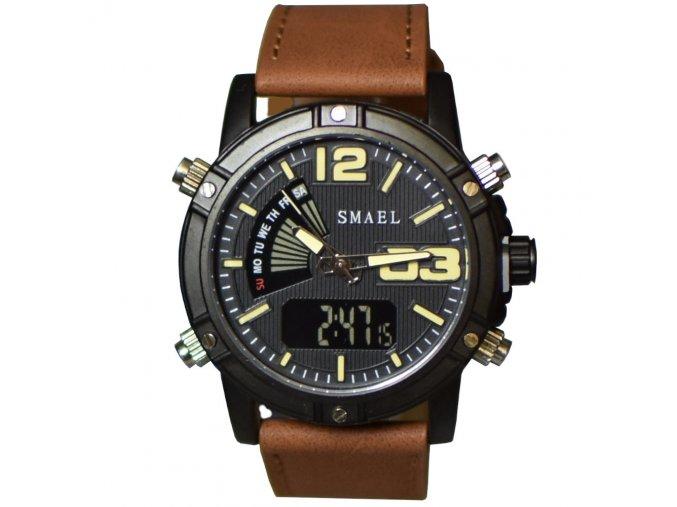panske hodinky smael cerno hnede jpg