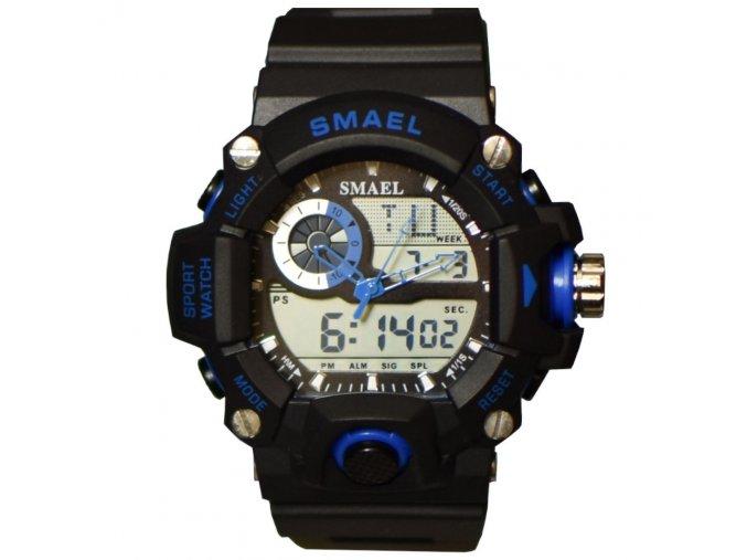 panske hodinky smael cerno modre
