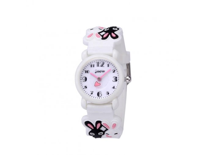 detske hodinky jnew s 3d reminkem barevne zajicek 86149 1 bily 4